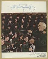 Boris Alexandrov (1905-1994) - Russian Composer & Major General - Signed Photo - Autographes