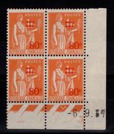 Coin Daté - YV 359 N** Paix Surchargé Du 6.9.37 - 1930-1939