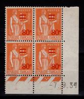 Coin Daté - YV 359 N** Paix Surchargé Du 7.9.37 - 1930-1939