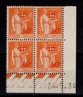 Coin Daté - YV 359 N** Paix Surchargé Du 24.9.34 (type I) - 1930-1939