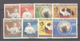 Paraguay  :  Mi  1487-94  **   Paul VI - Paraguay