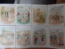 """8 Fiches Cartonnées, Illustrées """"Au Bon Marché""""   Les Epoques - Geschiedenis"""