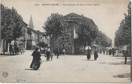 LA GRAND COMBE - GRAND'COMBE - Rue Salavert Et Cours Jules Callon (vue Animée) - La Grand-Combe