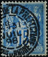 -Sage N°90. Type II  Ob  ( CAD ) MARSEILLE PL DE LA PREFECTURE. 1898. - 1876-1898 Sage (Tipo II)