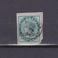 ZANZIBAR 1895, SG# 3, ½d Green, Overprint On Indian Stamp, Part Cover, QV, Used - Zanzibar (...-1963)