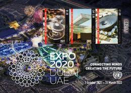 United Nations - New York/Geneva/Vienna - 2021 -  EXPO 2020 In Dubai - Mint Souvenir Sheet - Gemeinschaftsausgaben New York/Genf/Wien