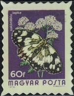 Hongrie Timbre Fictif Autocollant Papillon Melanargia Galathea Scrapbooking - Scrapbooking