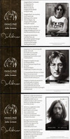 United Nations - New York/Geneva/Vienna - 2021 - John Lennon - 50 Years Of Imagine Song - Set Of 3 Mint Souvenir Sheets - Gemeinschaftsausgaben New York/Genf/Wien