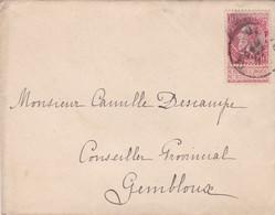 Enveloppe 58 à Gembloux - 1893-1900 Fine Barbe