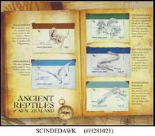 NEW ZEALAND - 2010 ANCIENT REPTILES - SHEET MINT NH SELF-ADHEISIVE STAMP - Preistorici
