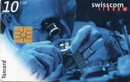 SWITZERLAND - CHIP CARD - CLOCK - Schweiz