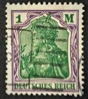 """1920 Mi. 150 I Plattenfehler ,,D"""" In ,,DEUTSCHES"""" Beschädigt  Germania 1M. - Plattenfehler"""