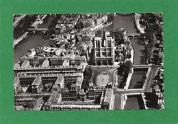 75 PARIS Vue Aerienne La Cité Et L'Eglise Notre Dame De Paris14cmX9cm Année 1960 EDIT Du Globe N° 58 - Kirchen