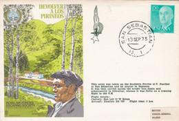 Enveloppe Cover Devolver A Los Pirineos San Sebastian - 1971-80 Storia Postale