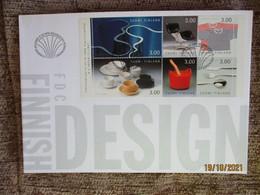 1997 FINLAND FDC COVER DESIGN COFFEE TEA  MINISHEET , 0 - Altri