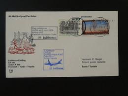 Lettre Premier Vol First Flight Cover Frankfurt --> Tunis Tunisie Lufthansa 1979 Ref 101601 - Brieven En Documenten
