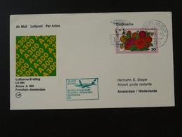 Lettre Premier Vol First Flight Cover Frankfurt --> Amsterdam Airbus A300 Lufthansa 1979 Ref 101605 - Brieven En Documenten