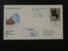Lettre Premier Vol First Flight Cover Frankfurt --> Seychelles Lufthansa 1979 Ref 101609 - Brieven En Documenten