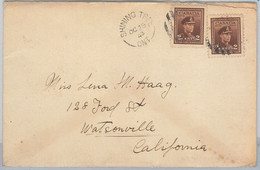 54356  -  CANADA -  POSTAL HISTORY:  COVER From SHINING TREE To USA 1943 - Covers & Documents