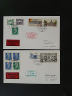 Lettre Cover (x2) Affranchissement Mixte Letzter Tag BRD DDR 1990 Ref 101615 - Briefe U. Dokumente