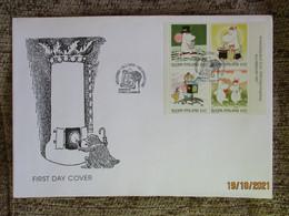1998 FINLAND FDC COVER MOOMINS  ,   MINISHEET , 0 - Fiabe, Racconti Popolari & Leggende