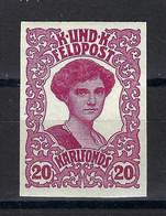 Österreich-Ungarische Feldpost 1918; MiNr. 74, 20 Heller Geschnitten !  (imperforated) - Unused Stamps