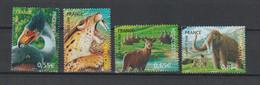 France. 2008 Animaux Préhistoriques. Mammouth. Megaloceros; Smilodon; Phorusrhacos. - Preistorici