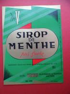 Etiquette Sirop De MENTHE VERNHES à VILLEFRANCHE DE ROUERGUE Aveyron 98 Cl - Fruits & Vegetables