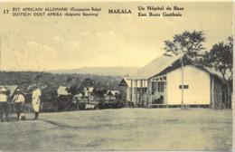 Cpa CONGO BELGE - Est Africain Allemand (occupation Belge) MAKALA - Un Hôpital De Base N° 17 (timbre Imprimé) - Andere