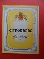 Etiquette CITRONNADE Citron Pur Sucre - Illustration L. RUEL Déposé N° 699 - Fruits & Vegetables
