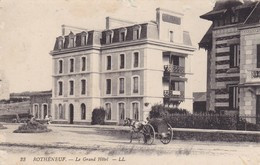 35. ROTHENEUF . CPA. ATTELAGE DEVANT LE GRAND HOTEL - Rotheneuf