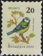 Biélorussie Timbre Fictif Autocollant Oiseau Parus Caeruleus Mésange Bleue Scrapbooking - Scrapbooking