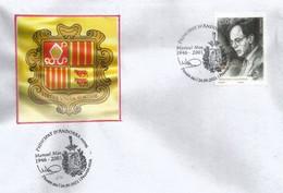 2021.Manuel Mas (1946-2001) Ministre Affaires étrangères D'Andorre.St Siège & Irlande. FDC Andorra 24/09/2021 - FDC