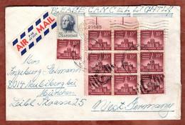 Luftpost, Philadelphia U.a., Bogenrandnummer, Hopewell Junction Nach Oberursel 1965 (5327) - Covers & Documents