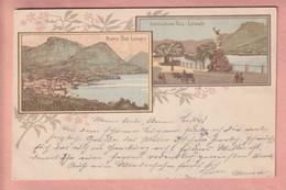 OUDE  POSTKAART ZWITSERLAND - LITHO 1897 - LUGANO - TI Ticino