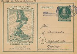 Berlin - 1951 - 10pf Sonderpostkarte Real Used From Berlin Charlottenburg - Postkarten - Gebraucht