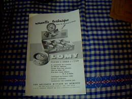 Vieux Papier Publicité  Tract Peinture à Souder à L'étain Lomy Paris Rue St Maur - Dépliants Turistici
