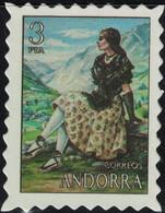 Andorre Timbre Fictif Autocollant Femme Montagne Costumes Paysages Scrapbooking - Scrapbooking