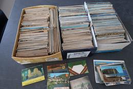 Gros Lot De 2302 Cartes Postales Grandes Et Petites Et 10 Carnets De Cartes Postales - 500 CP Min.
