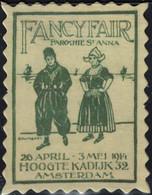 Pays Bas Timbre Fictif Autocollant Fancy Fair Paroisse Sainte Anne Scrapbooking - Scrapbooking
