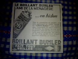Vieux Papier Publicité  Tract Brillant Buhler L'ami De La Ménagère M.B. Paris - Dépliants Turistici