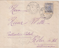 """LEVANT AUTRICHIEN : OBL . """" SCIO """" . POUR L'ALLEMAGNE . 1905 - Eastern Austria"""