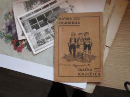 Djacka Knjizica Student Book Vrbaska Banovina 1939/40 Mrkonjic Grad - Dépliants Turistici