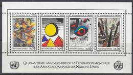 UNO GENF  Block 4, Postfrisch **, 40 Jahre WFUNA, 1986 - Blocks & Kleinbögen