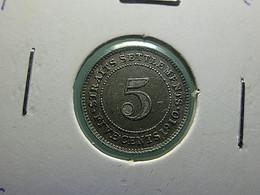 Straits Settlements 5 Cents 1910 Silver - Non Classificati