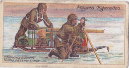 18 Taking Observations -  Polar Exploration 2nd 1916 - Players Cigarette Card - Antarctic - Antique - Wills