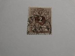 COB 44a 2c Brun Foncé - 1869-1888 Lion Couché