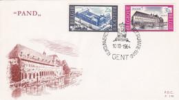 Enveloppe FDC 1304 1305 Pand Gent - 1961-70
