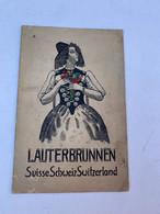 Publicité Ancienne Pour L'Hötel Jungfrau Et Lauterbrunnen En Suisse - Dépliants Turistici