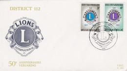 Enveloppe FDC 1404 1405 Lions Club Spa - 1961-70